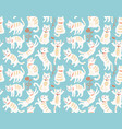 cats seamless pattern vector image vector image
