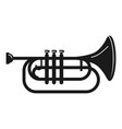 concert trumpet icon simple style vector image