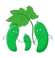 cucumber parents with child vector image