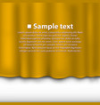 curtain of yellow color vector image vector image