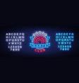 darts club logo in neon style neon sign bright vector image