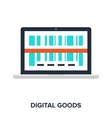 digital goods concept vector image vector image