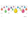 easter day ornamental eggs on important days vector image
