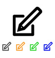 edit document stroke icon vector image
