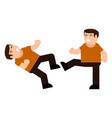 fight men icon vector image vector image