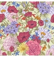 Gentle Retro Summer Seamless Floral Pattern vector image