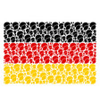 germany flag collage of soldier helmet items vector image