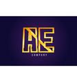 gold golden alphabet letter ae a e logo vector image vector image