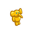 golden figurine of a toy elephant vector image