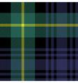 gordon tartan fabric texture seamless pattern vector image vector image