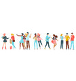 happy friends together group cheerful people vector image