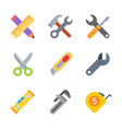 instruments and tools colored trendy icon pack 1 vector image vector image