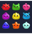 Jelly characters vector image