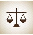 justice concept design vector image vector image