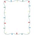 Lightbulb border vector image vector image