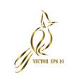 line art logo red-whiskered bulbul bird eps 10 vector image vector image