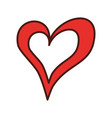 linear heart love romance passion vector image vector image
