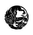 lion and hyena vector image