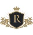 luxury crest logo vector image vector image