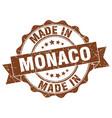 made in monaco round seal vector image vector image