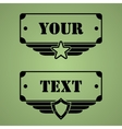 Military style tags vector image vector image