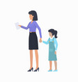 mother with daughter icon vector image