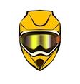 Motorcycle sport helmet vector image vector image