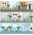 Office interior in flat style vector image vector image