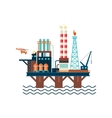 Oil Factory Platform vector image vector image