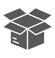 open box glyph icon e commerce and marketing vector image