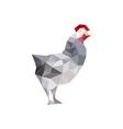 Origami chicken vector image