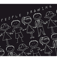 people drawn vector image