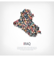 people map country Iraq vector image vector image