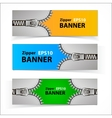 Promotional sale banners with zipper vector image