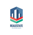 real estate - abstract logo template vector image