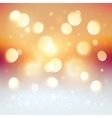 Red bokeh light effect Christmas background vector image vector image