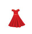 red dress with glitter vector image vector image