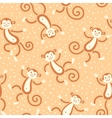 Seamless pattern with monkeys playing in snow vector image