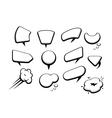 set of many comic cartoon style speech bubbles vector image