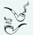 Set of tobacco pipes vector image vector image