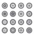 set wheel rims vector image vector image