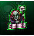 shaman sport mascot logo design vector image vector image