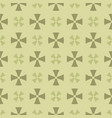 simple geometric floral seamless abstract pattern vector image vector image