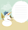smiling happy christmas snowman vector image vector image
