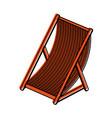 sun chair icon image vector image