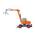 telescopic grapple bulldozer special industrial vector image