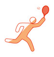 tennis player pictogram vector image vector image