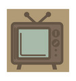 tv set with antenna retro device isolated icon vector image