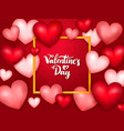 valentines day banner with hearts vector image vector image