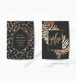 wedding invitation cards save the date animal skin vector image vector image